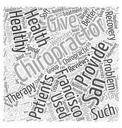 chiropractor san francisco Word Cloud Concept vector image