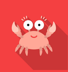 crab cartoon icon for web and mobile vector image