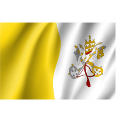 flag of vatican city state vector image