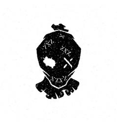 Halloween scarecrow head vector image