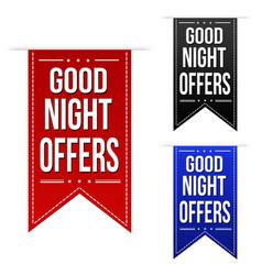 Late night offer banner design set vector