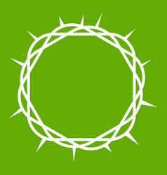 crown of thorns icon green vector image
