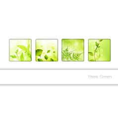 Eco frame collection vector image vector image