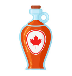 Maple syrup bottle vector