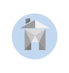 origami paper house isolated on white background vector image vector image