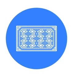 Turkish carpet icon in black style isolated on vector