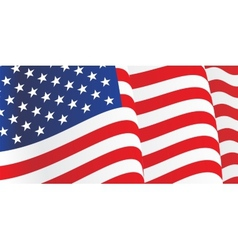 Background with waving American Flag vector image