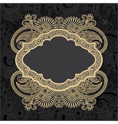 dark ornate floral background vector image