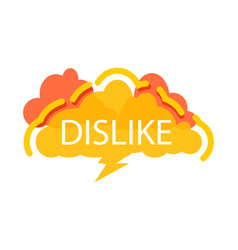 dislike speech bubble with expression text vector image vector image