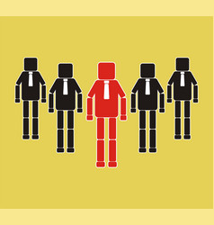 successful team leader teamwork concept icon vector image vector image