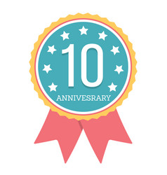 10 years anniversary emblem vector image