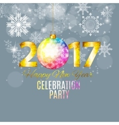 Abstract Beauty 2017 New Year Celebration Poster vector image