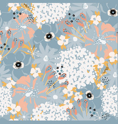 abstract florals seamless pattern vector image
