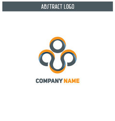 Abstract modern logo design vector image