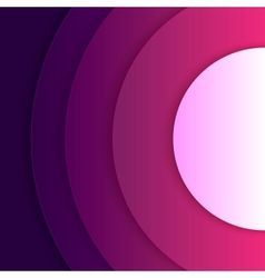 Abstract purple and violet round shapes background vector image