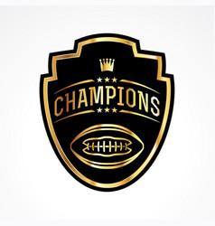 american football champions badge emblem vector image