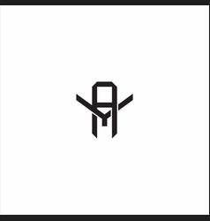 Ay initial letter overlapping interlock logo vector