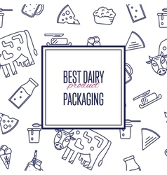Best dairy product seamless pattern vector