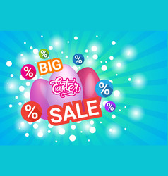 big sale easter holiday concept shopping poster vector image