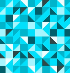 blue seamless triangle pattern vector image