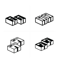 Box icons set 4 design vector