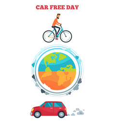 car free day symbol vector image