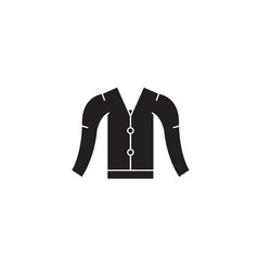 cardigan black concept icon cardigan flat vector image