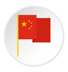 Chinese national flag icon circle vector