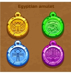 Colored old egyptian amulet vector