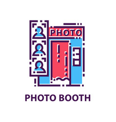 colorful logo template with photo booth and vector image