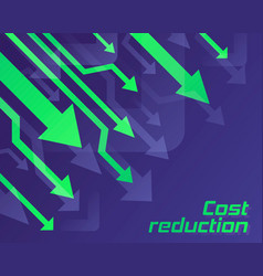 cost reduction concept vector image