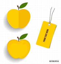 Cute note papers and apple welcome back to school vector