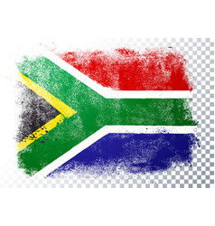distressed grunge flag south africa vector image
