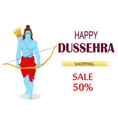 Dussehra vijayadashami navratri rama festival bow vector