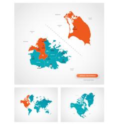 editable template map antigua and barbuda vector image