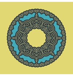 Ethnic Circle Element Orient Traditional Design vector