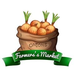 Farmerss market vector image