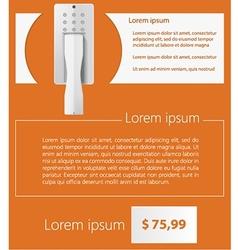 Flat minimalist template business design Intercom vector