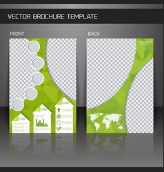 Flyer brochure template vector image