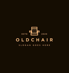 furniture logo chair logo icon template vector image