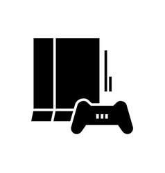 game console-10 icon black vector image