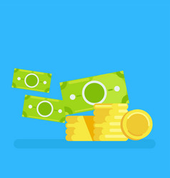 gold coins icon vector image