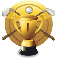 Golf award vector