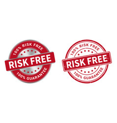 Grunge stamp and silver label risk free vector