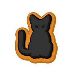 halloween cookie black cat cookies for terrible vector image