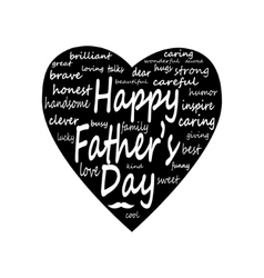 happy father day Big Heart vector image