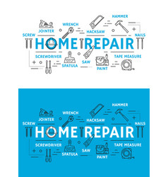 Home repair tools and equipment vector