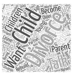 How to talk to your children Word Cloud Concept vector