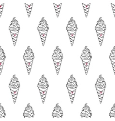 Ice Cream Easy Pattern Linear-16 vector