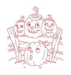 icon and element for helloween vector image